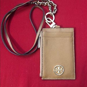 Tory Burch Robinson Brown Lanyard